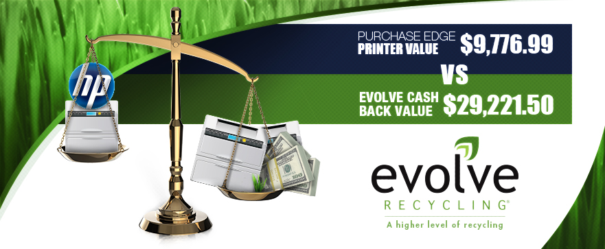 Evolve Recycling outperforms HP Purchase Edge